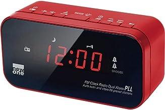 New One CR 120 R - Radiodespertador, rojo