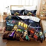 Conjunto de ropa de cama de coches Juego Twin Size Juego Edredón Boys Gril Teens Dibujos animados Anime Racing Auto Duvet Fundas (Color : 5, Size : 220x240cm)