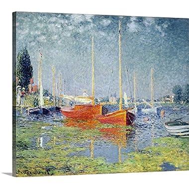 Claude Monet Premium Thick-Wrap Canvas Wall Art Print entitled Argenteuil, 1875 24 x20