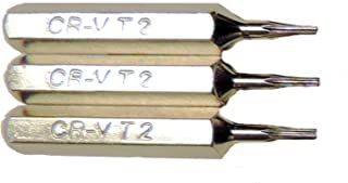 3 Replacement Torx T2 Bits for 1/8