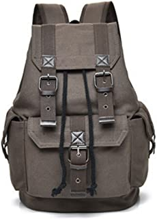 1d6564f59 YNXing Multi-Function Vintage Canvas Hiking Travel Backpack Fashion Leisure  Travel Backpack for Men and