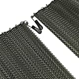 Fireplace Replacement Black Hanging Mesh Curtain Screens Two (2) Panels 21' High X 24' Wide with Pulls