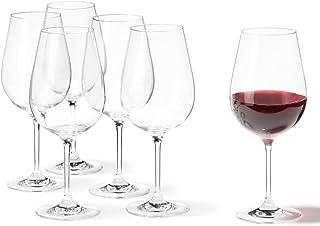 Leonardo Tivoli Rotwein-Gläser, Rotwein-Kelch mit gezogenem Stiel, spülmaschinenfeste Wein-Gläser, 6er Set, groß, 700 ml, 020968