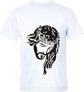 Break Time Women's Holy Jesus Fitted Print Crew Neck Short Sleeve t-Shirt