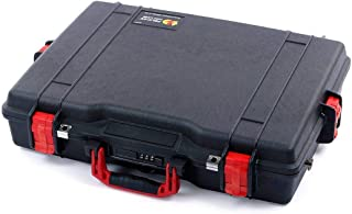 Pelican Colors Black & Red 1495 Case. Comes with Foam and Shoulder Strap.