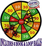 Matty's Toy Stop Deluxe 12' Fabric Safety Dart Board...