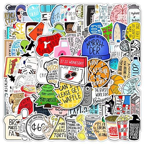 SHIHE No repita la Etiqueta engomada Impermeable del teléfono del Coche de la Vespa de la Etiqueta engomada del Doodle del Viento de Vine Ins 100 Hojas