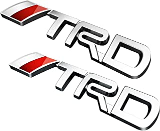 LP-BS09A - TRD Car Emblem Chrome Stickers Decals Badge Labeling for Fj Cruiser, Supercharger, Tundra, Tacoma, 4runner,Yaris,Camry, Pack of 2 (Silver)