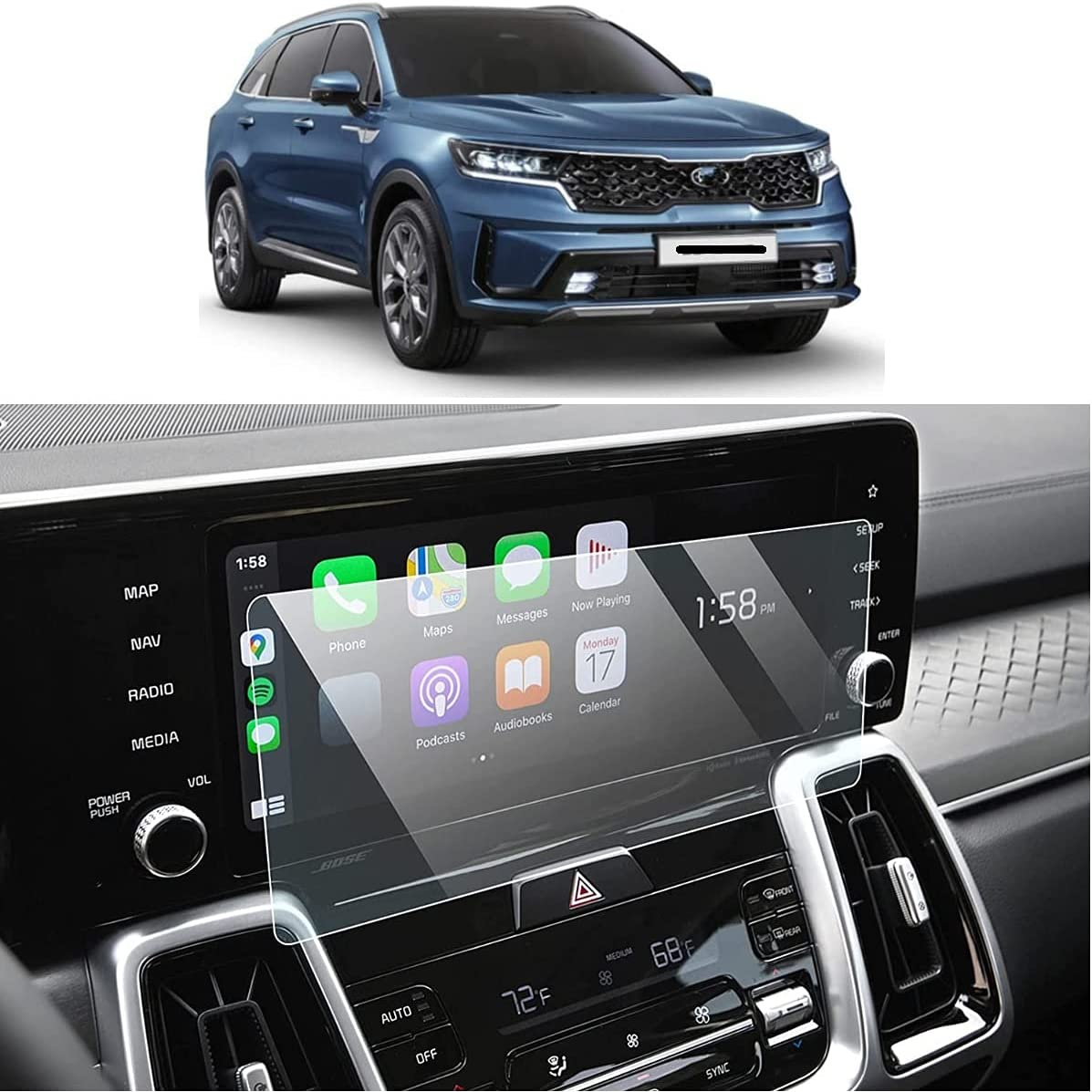 favorite BSTACLL Screen Protector Compatible Hyundai 2021 shop Sorento with