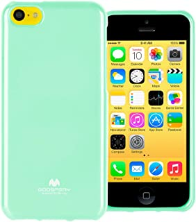 GOOSPERY Marlang Marlang iPhone 5C Case - Mint Green/Free Screen Protector [Slim Fit] TPU Case [Flexible] Pearl Jelly [Protection] Bumper Cover for Apple iPhone5C, IP5C-JEL/SP-MNT