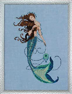 Renaissance Mermaid Linen Beaded Counted Cross Stitch Kit by Nora Corbett Mirabilia Designs MD151 (Bundle: Cross Stitch Chart, Fabric, Beads, Kreinik Braid, Silk Floss)