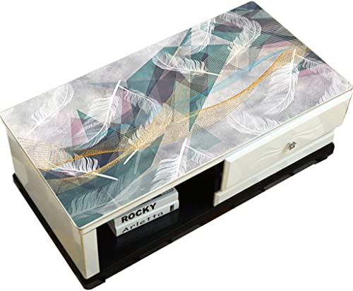 LLH PVC Tischdecke, Haushalt 3D Feder Weißem Kunststoff Wasserdicht Und ölBesteändige Tischdecke staubdicht Einweg Couchtisch Matte ZHUOB (Farbe   A, Größe   70  130cm)