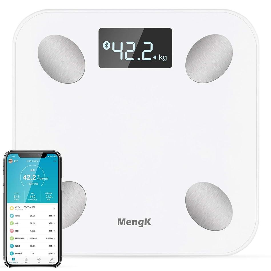 識別するかどうか線形体重計,MENGK bluetooth体脂肪計·体組成計、ヘルスメーター、体重計、体脂肪計、体重/BMI/体脂肪率/筋肉率/水分/骨量/基礎代謝率/蛋白率など測定ができる