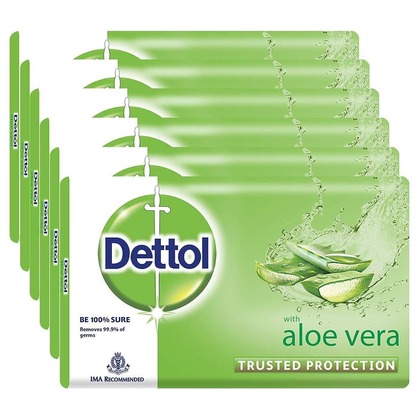 薄汚い率直な落花生Dettol Soap - 100 g (Pack of 6, Aloe Vera)