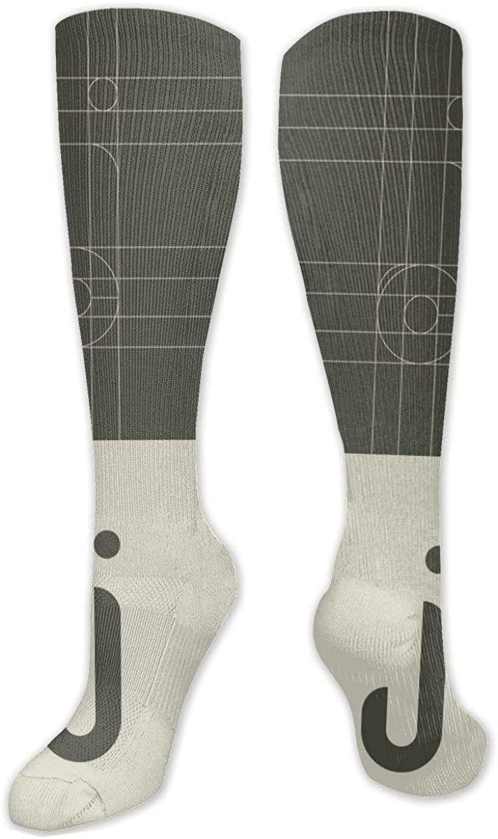 Letter J Knee High Socks Leg Warmer Dresses Long Boot Stockings For Womens Cosplay Daily Wear