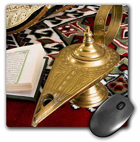 3drose LLC 20,3 x 20,3 x 0,6 cm lamp van Aladdin, Arabische schoenen, heilige islamitische koran muismat (MP 131462 1)