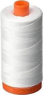 Aurifil A1050-2024 Mako Cotton Thread Solid 50WT 1422Yds White