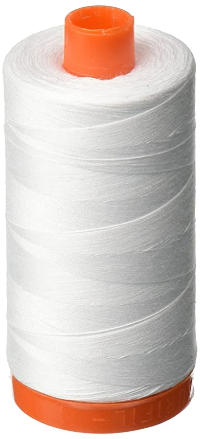 Aurifil A1050-2024 Mako Cotton Thread Solid 50WT 1422Yds White