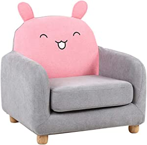 Children s Armchairs Couches Cushions Baby Child  Cute Girl  Sofa Lazy Sofa Seat Animal Cartoon Washable for Bedroom  Living Room Pink1