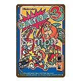 FFFPANDA Klassische Kinder Videospiel Dekor Metall Poster