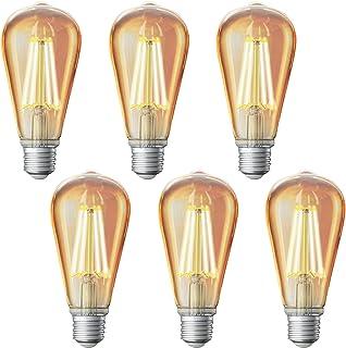 Sengled Smart Edison Bulb, Vintage Light Bulbs, Smart LED Filament Light Bulb, Dimmable Amber Light, ST19, Hub Required, Amber Glass, 7.2W, 60 Watt Equivalent 6 Pack