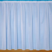 "John Aird Denise - Plain White Net Curtain With Weighted Base - Width Sold By The Metre Drop: 36"" (91cm)"