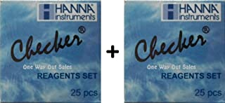 Two Pack: Hanna Instruments HI 713-25 Reagents Phosphate for HI 713 Checker HC (Total of 50 Tests)
