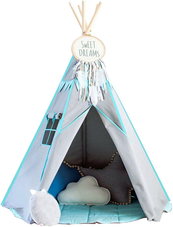 C-J-Xin Schlafzimmer-Zelt, Kinderjungen und Mdchen-Spielzeug-Raum, Spiel-Haus-Innenstoff-Kunst-festes Holz-Schloss-Zelt 120-150CM Kinderzelt