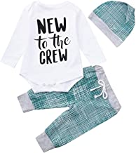 Clearance SRYSHKR Newborn Baby Boys Girls Striped Letter Print Tops+Pants+Hat Casual Set Clothes