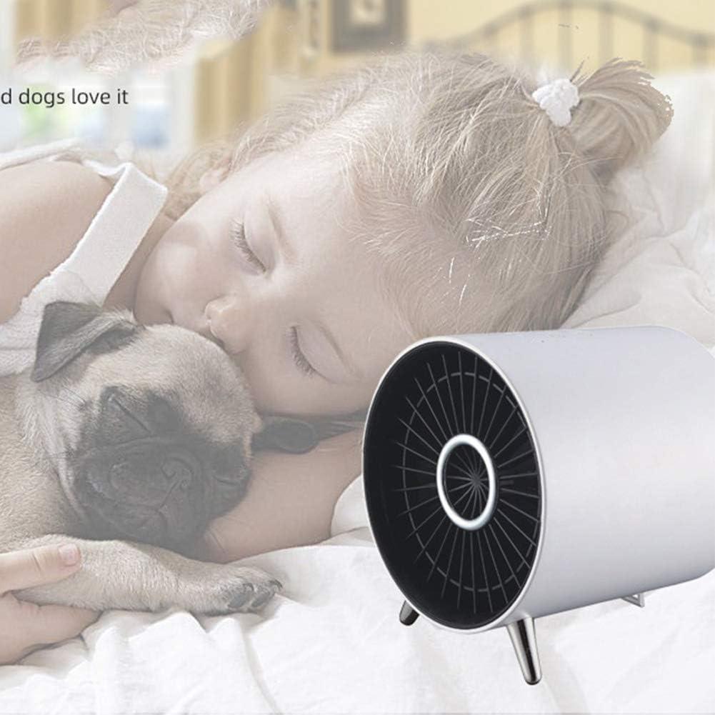 HLJ Kleine huishoudelijke apparaten Elektrische verwarming Fan Mute Household PTC Keramische Desktop Heater Mini Warm Machine for Huis Offic (Color : White) White