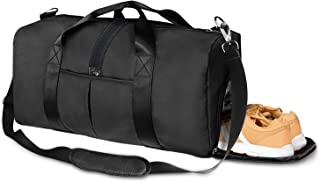 Sports Gym Bag with Shoes Compartment and Wet Pocket, Travel Duffle Bag for Men and Women