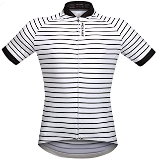 WOSAWE Mens Breathable Summer Cycling Shirt, Short Sleeve Cycling Jersey, Moisture Wicking and Quick Drying