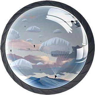 Boutons de tiroir Poignées d'armoire rondes Pull pour bureau à domicile cuisine commode armoire décorer,Parachute