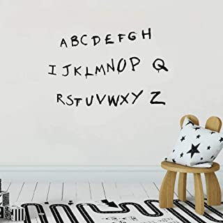 Vinly Art Decal Words Quotes Stranger Things Sticker Stranger Things Decal Scary Alphabet Wall Decal Alphabet Decal Will's Alphabet for Nursery Kids Room