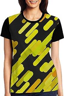 Geometrical Seamless Chaotic Womens Casual Crewneck T-Shirt