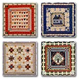 Highland Graphics American Quilts ~ 4 Tile Square assorted coasters...