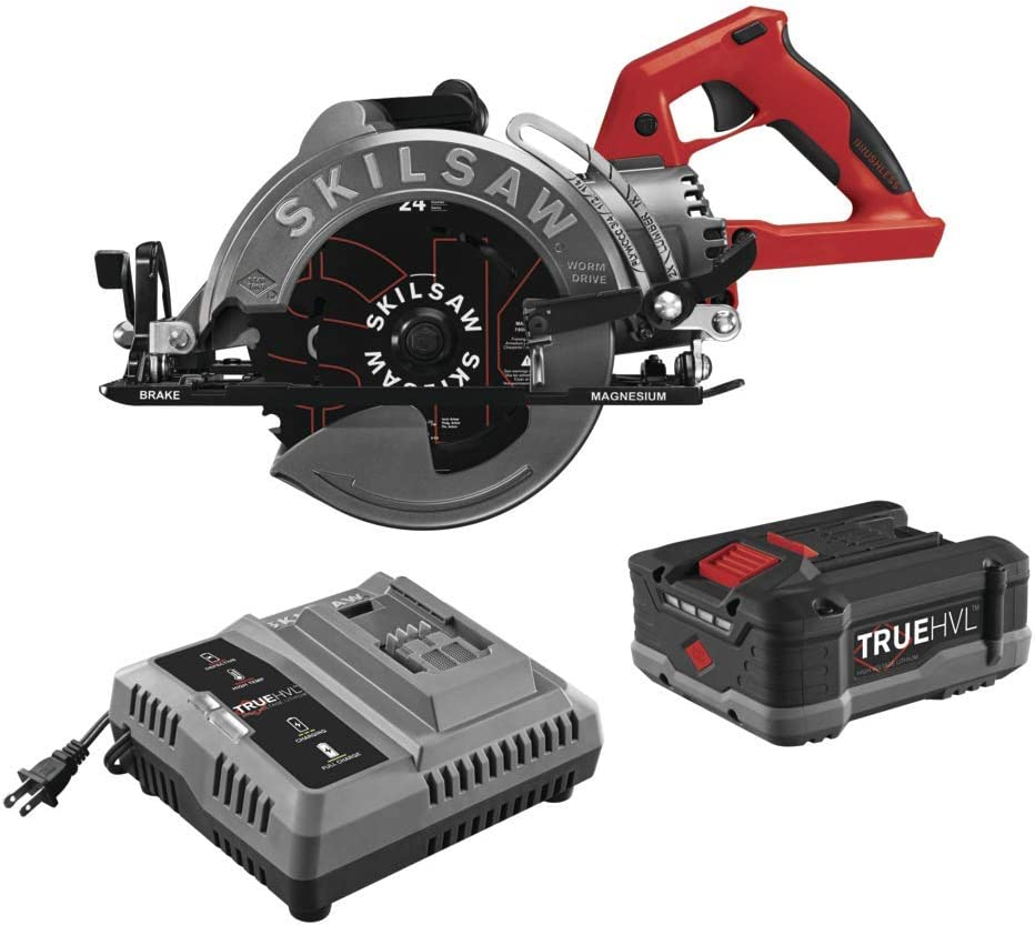 List price SKILSAW SPTH77M-11 48V 7-1 4 In. Drive Worm Saw Fashionable Cordless TRUEHVL