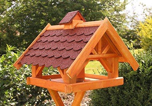holzdekoladen Rechteckiges Vogelhaus, Vogelhäuser behandelt Typ 33 (Maxi, Rot)