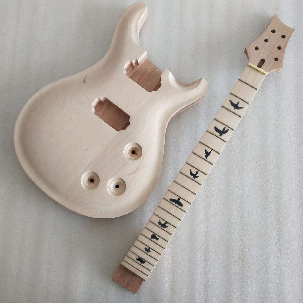 chushi Mejor 1 Set Sin Terminar Cuello De Guitarra Y Cuerpo PRS Estilo De Guitarra Eléctrica DIY Parte Zzib