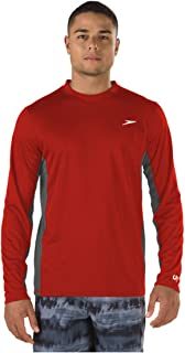 Speed Men's Long Sleeve Rash Guard Swim Shirt with UV and...
