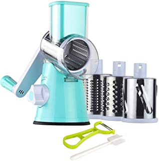 Ourokhome Round Mandoline Slicer Grinder – Rotary Cheese Grater for Walnuts,..