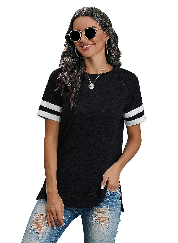Special price VVWENR Women's T-Shirt Short Sleeve Ranking TOP5 Neck Casu Loose Shirts Round