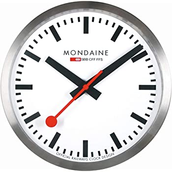 MONDAINE 掛け時計 ウォールクロック 40cm A995.16SBB