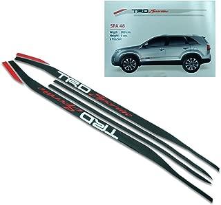 Powerwarauto Sticker Badge TRD Sportivo Red Black For Toyota Fortuner Suv 2005 2015