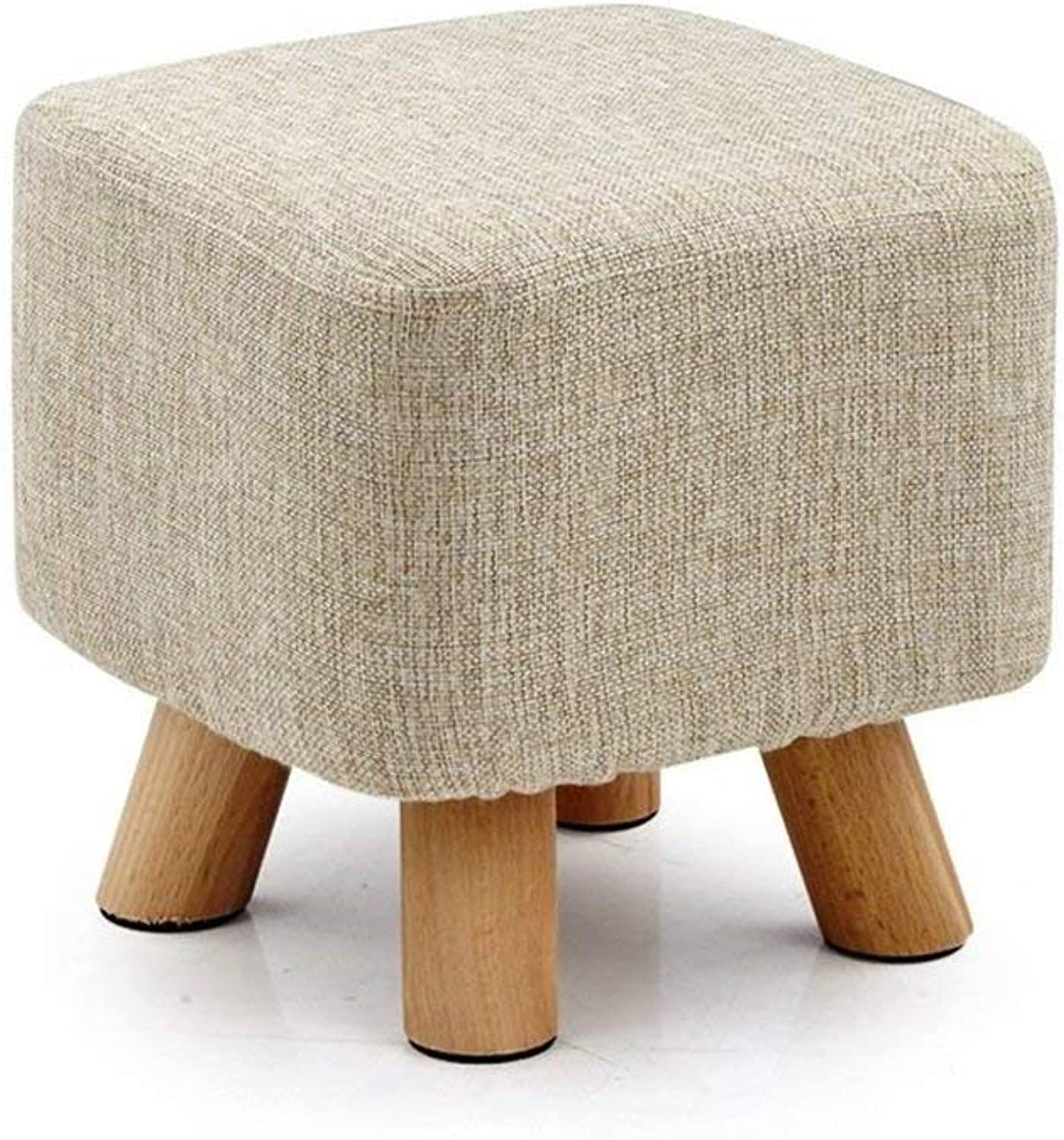 ATR Sofa Stool Fabric Art Small Stool Solid Wood shoes Bench Home Small Stool Bench (color    5)