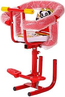 Lanxing Asiento Delantero Segura del niño del bebé Moto eléctrico del Asiento del niño con Respaldo Pedales Desmontable Apoyabrazos Seguridad Estable Choque Asiento Absorción de Niños