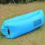 Chaise canapé et sac de couchage portable et gonflable-Lit à compression pour voyage, camping, pêche, plage, parc, jardin par Outad, bleu
