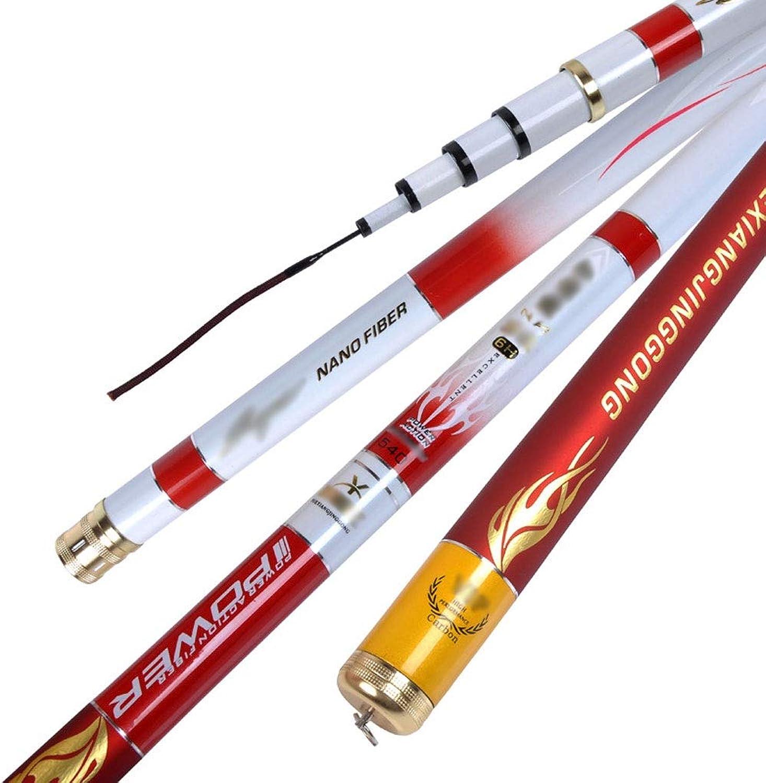 Carbon Rod Ultra Light Super Hard Fishing Rod, 5.4 Meters 6.3 Meters 7.2 Meters 28 Adjustable Fishing Rod Fishing Tools (Size   4.8)