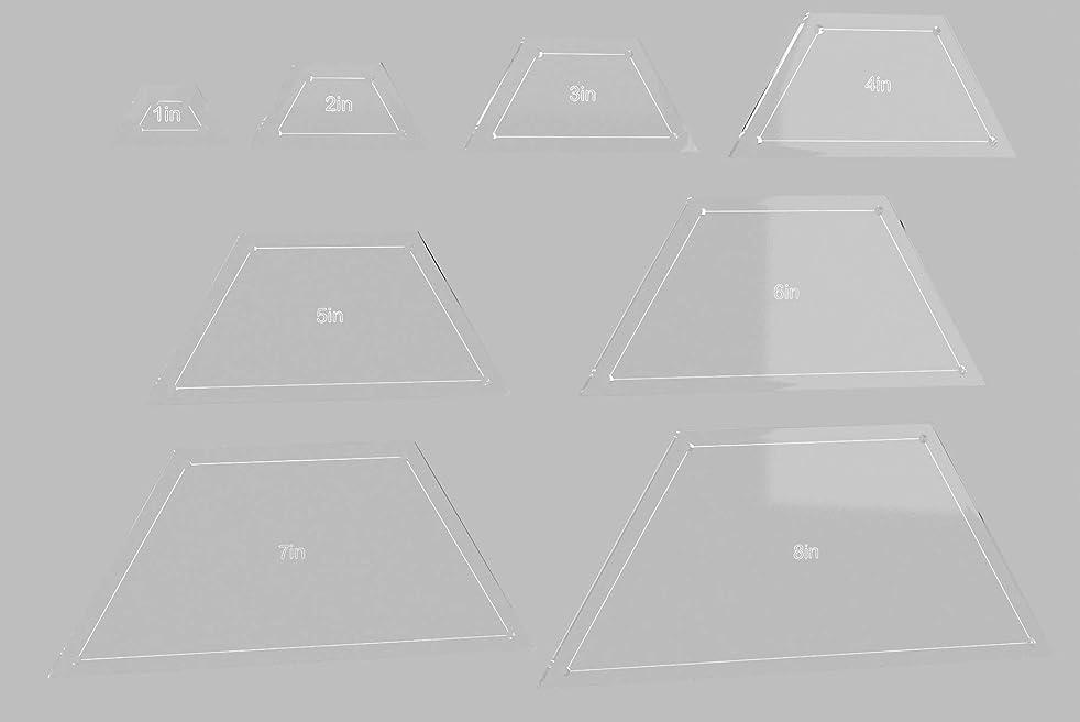 Half Hexagon Quilting Template Set, 8