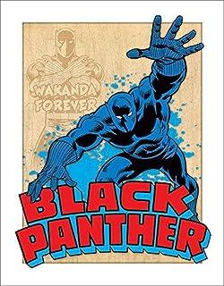 Desperate Enterprises Black Panther Retro Tin Sign, 12.5